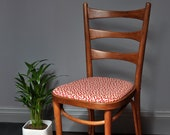 upholstered bentwood chair mid century knoll designer fabric of Anni Albers from bauhaus