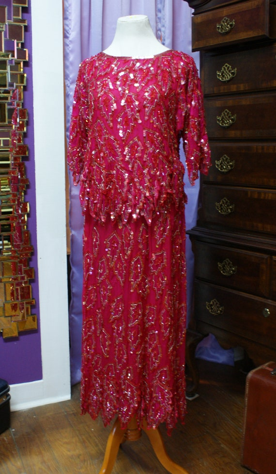 Vintage Scala Two-piece Silk Evening Gown, S/M