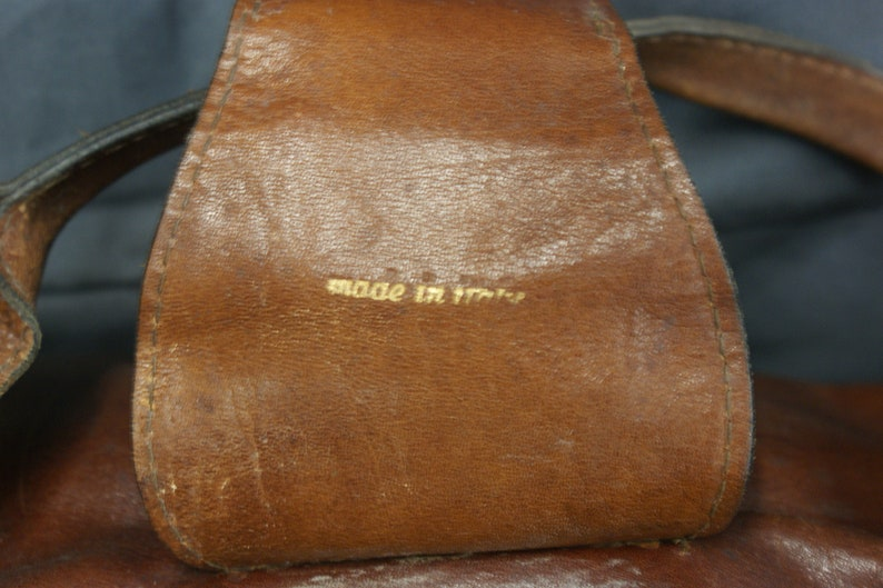 Antique Italian Leather Doctor/'s Bag