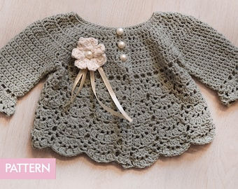 Crochet PATTERN Baby Cardigan Baby Jacket Crochet PATTERN Baby Dress Baby Cardigan Baby Girl Pattern Baby Outfit