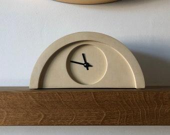 Yellow Sandstone Mantel Piece Shelf Clock by Jim Chambers