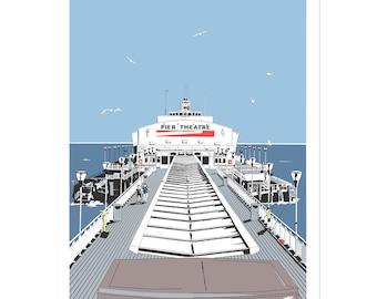 Bournemouth Pier - Dorset coastal artwork by Jim Chambers