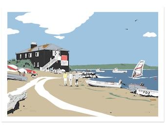 Black House - Dorset coastal artwork by Jim Chambers