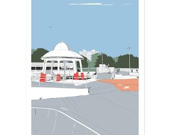 Southsea Skatepark - Portsmouth coastal artwork by Jim Chambers