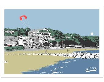 Sandbanks - Dorset coastal artwork by Jim Chambers
