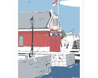 Poole Quay - Dorset coastal artwork by Jim Chambers