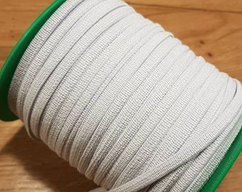 5 mm white flat elastic