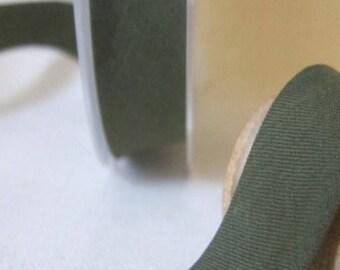 Dark khaki poly-cotton bias 20 mm
