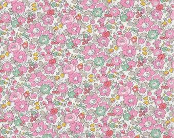 Liberty New Betsy anna sweet pink fabric, liberty fabric, betsy pink