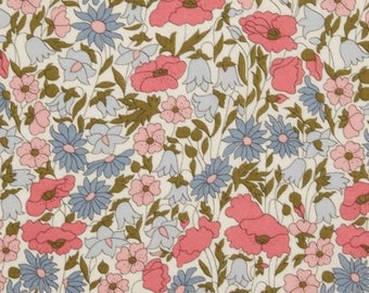 Liberty Poppy and Daisy 40-Year-Old Edition Fabric