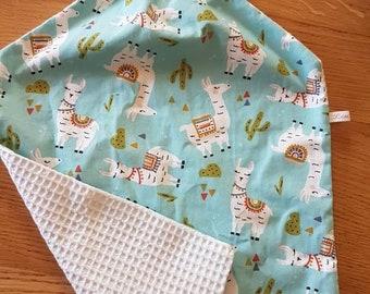 Elastic collar towel or school towel// elastic bib handmade // towel canteen// cotton towel// llama