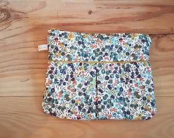 Lining and liberty wiltshire khaki pouch