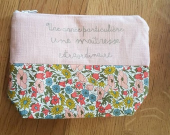 Master gift, Pale pink linen mistress kit and liberty poppy and daisy, master gift, atsem gift