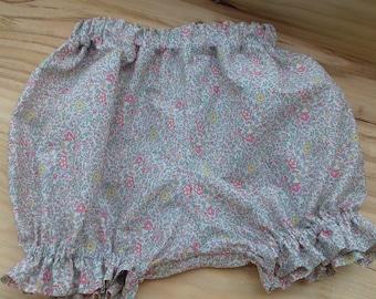 Bloomer liberty // baby bloomer // baby diaper cover// handmade girl bloomer // Liberty