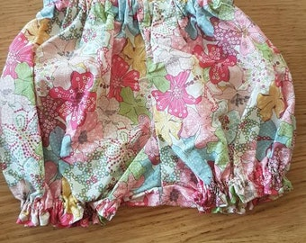 Bloomer liberty mauvey 6 months // bloomer baby pink/ baby diaper// bloomer handmade girl