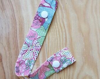 Attached nipple or lollipop attachment // liberty nipple attachment a clip // birth gift idea