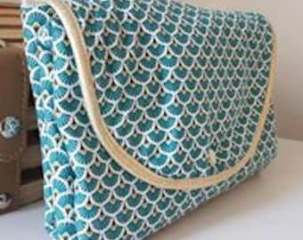 Nomadic changing mat, birth gift idea, changing mattress, white bamboo fiber sponge