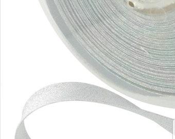 Silver lurex bias 40/20 mm