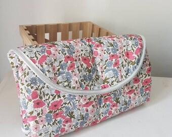 Nomadic changing mat, Nomadic changing mat liberty fabric, birth gift idea, changing mat, white sponge bamboo fiber,