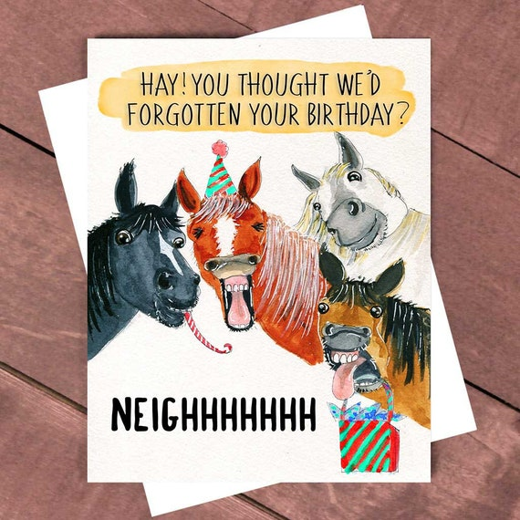 Lustiger Freundkarte Pferd Geburtstagskarte Gruppe Etsy
