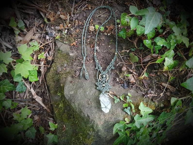 Wundersch\u00f6ne Elfenkette mit Bergkristall und pyrit