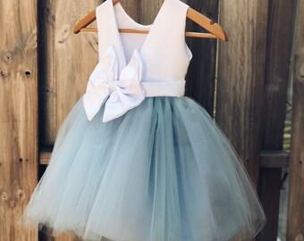 7e7f795fae8f Flower Girl Dresses, Elegant Bridal Satin and Tulle Flower Girl Dress for Flower  Girls, Baptism and Formal events