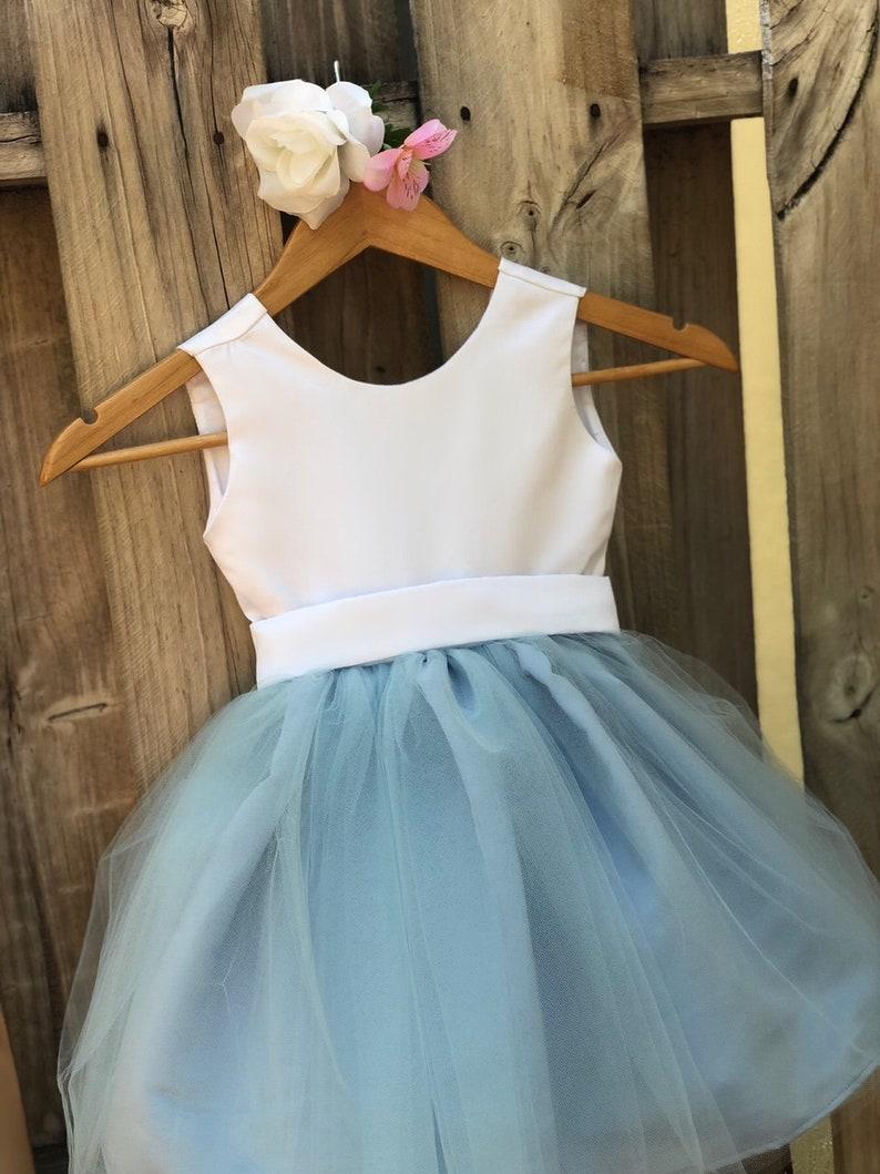b51f65a8430 Dusty Blue Flower Girl Dress Light Blue Flower Girl Dresses