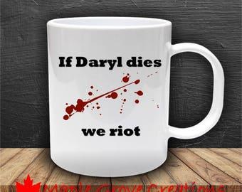 The Walking Dead We Riot Mug - The Walking Dead - Choose Your Character - 11 oz ceramic coffee mug
