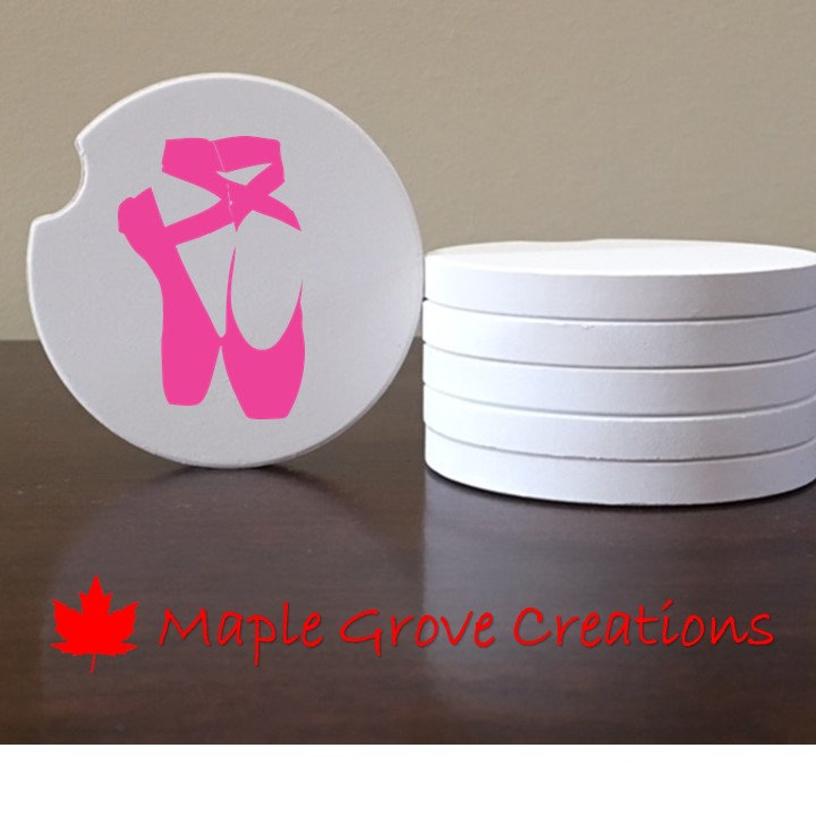 ballet slippers car coaster set - 2.56
