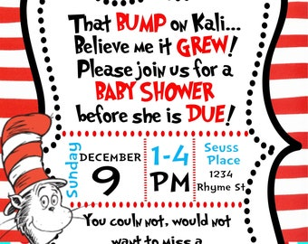 Cat In The Hat Baby Shower Etsy