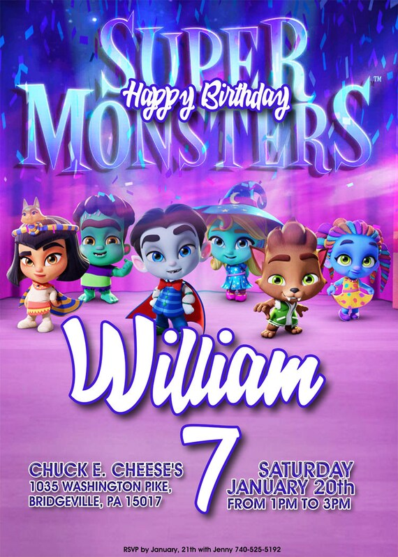 Super Monsters Theme Birthday Party Super Monsters