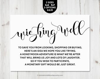 wishing well cards printable in lieu of gifts rustic wedding insert wedding wishing well printable cards download wishing well bridal shower