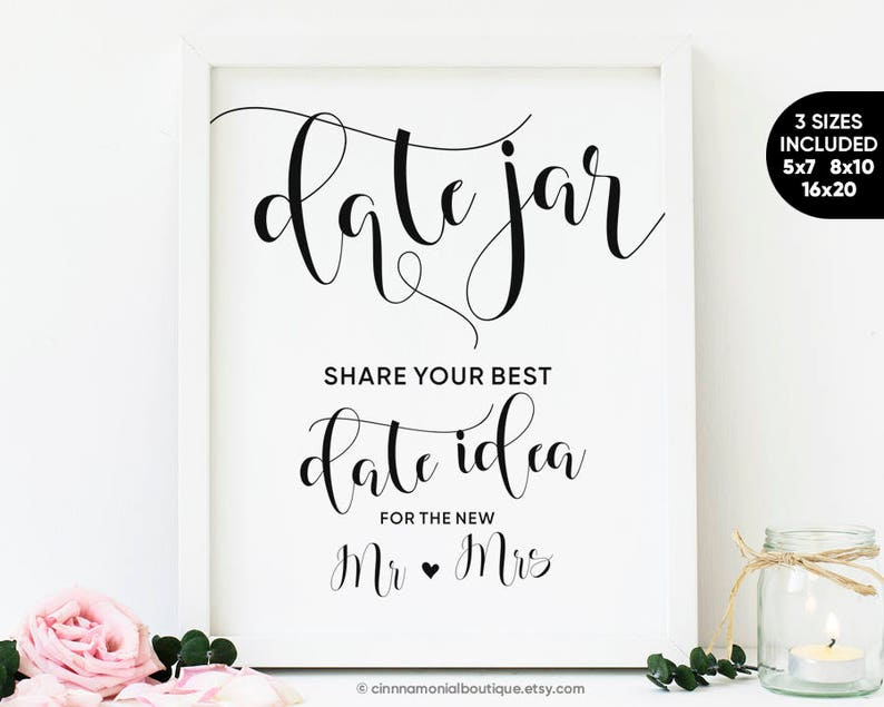 picture about Date Night Jar Printable referred to as Day Jar Printable Signal, Wedding ceremony Shower Decorations, Day Night time Concept Indicator, Marriage Online games Day Evening Jar Signal Bridal Shower Decorations Signs and symptoms