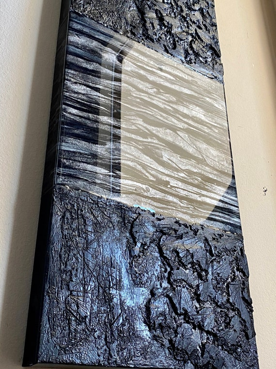 Original abstract painting on canvas unique art home decor texture art resin art