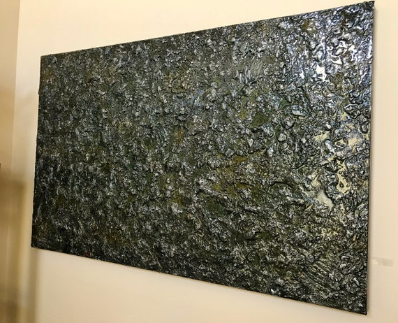 Large original abstract painting with resin modern art texture art home decor unique art large painting on canvas