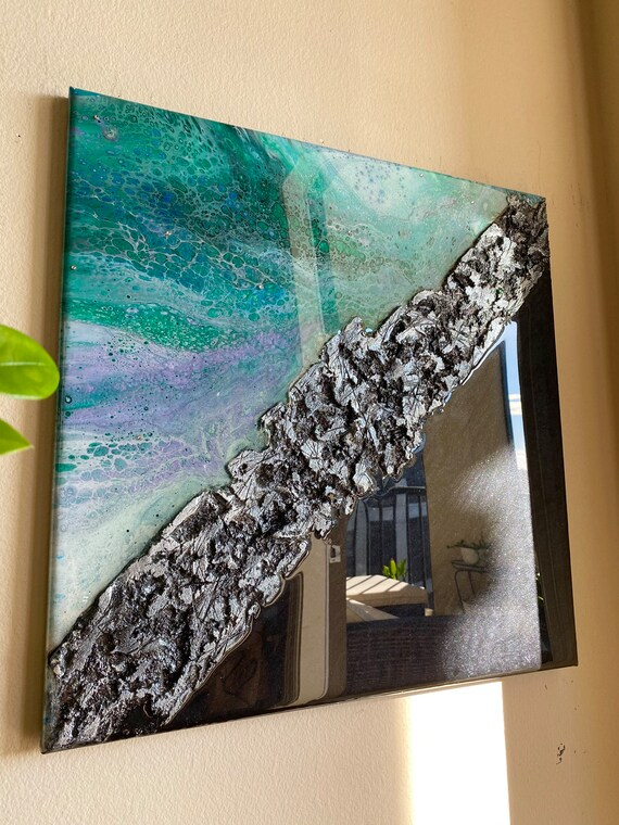 Epoxy on canvas resin on canvas epoxy painting resin painting large canvas art