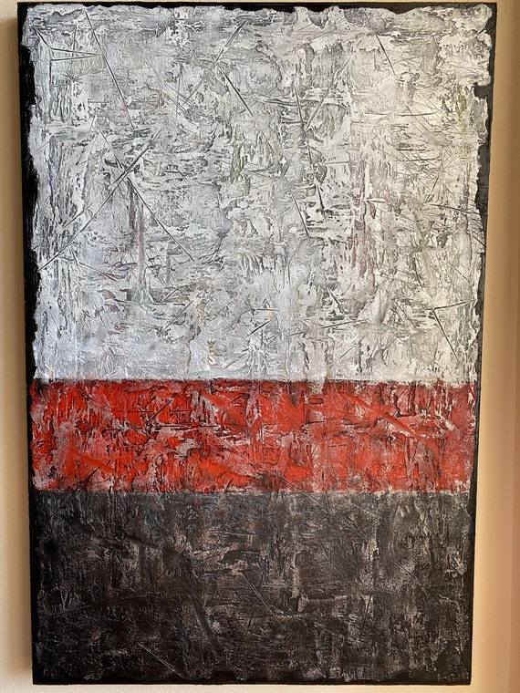 Large Original abstract painting on canvas with unique texture modern art home decor textured abstract