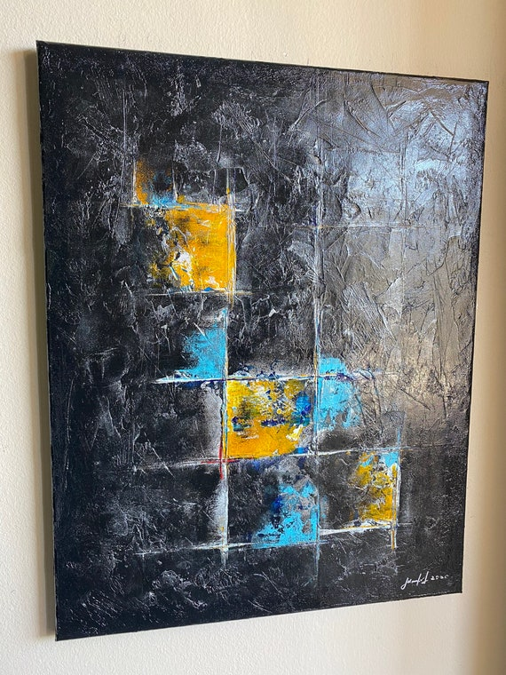 Original abstract painting on canvas with unique texture home decor original art modern art