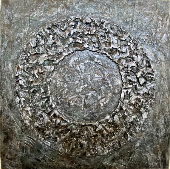 Large Texture original Abstract painting on Canvas 36x36inch modern art unique art acrylic painting bas-relief Artwork homedecoration