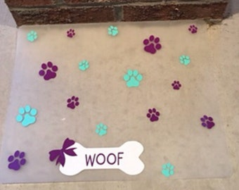 Waterproof Plastic Paw Pet Placemat