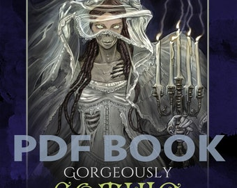 Gorgeously Gothic, Halloween Horror Adult PDF Coloring Book, Matthew Davidson, printable download, Spooktober
