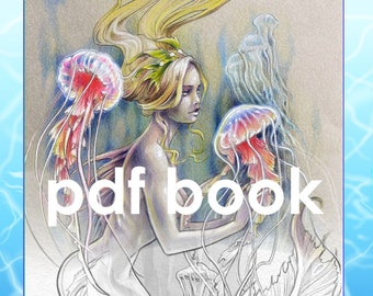 Salty Sirens: A Mermaid and Pirate PDF Coloring Book, Matt Davidson, instant download, Adult coloring book, Printable