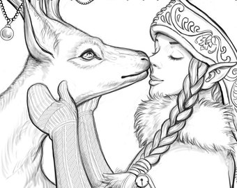 Winter Coloring Page Etsy