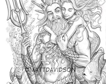 Top 25 Free Printable Little Mermaid Coloring Pages Online | 270x340