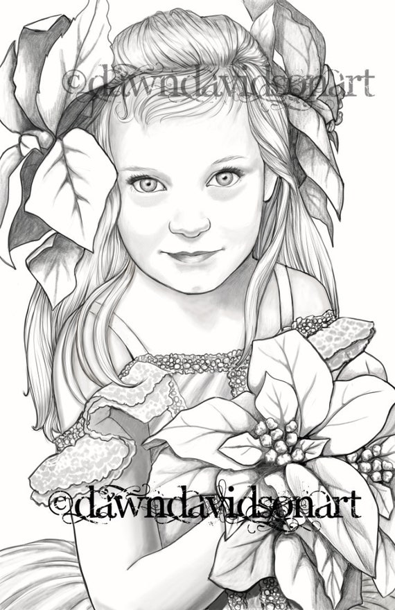 Princess Emera Adult Coloring Pages Grayscale Colouring For Etsyrhetsy: Colouring Pages Of Flowers To Print At Baymontmadison.com