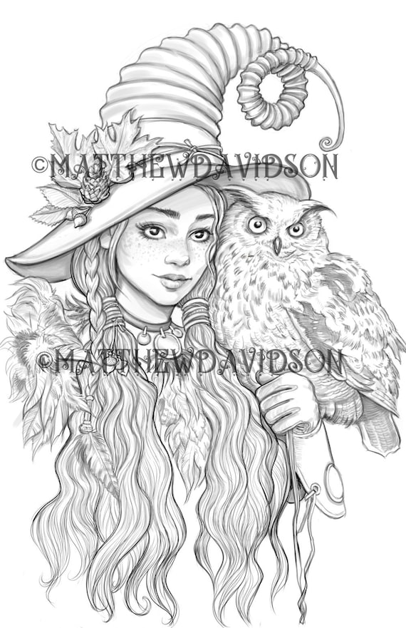 Printable Witch Coloring Pages For Kids | 881x570