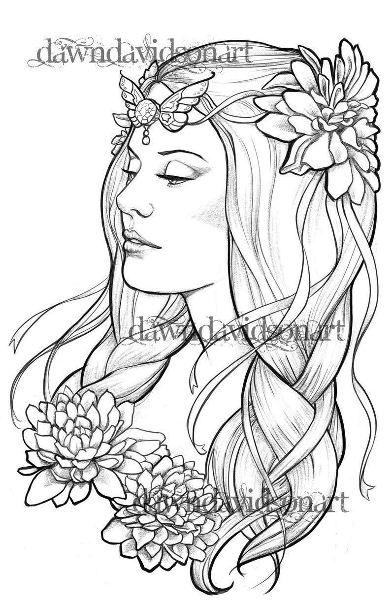 Peace Coloring Page Printable Colouring For Adults Instant Etsy