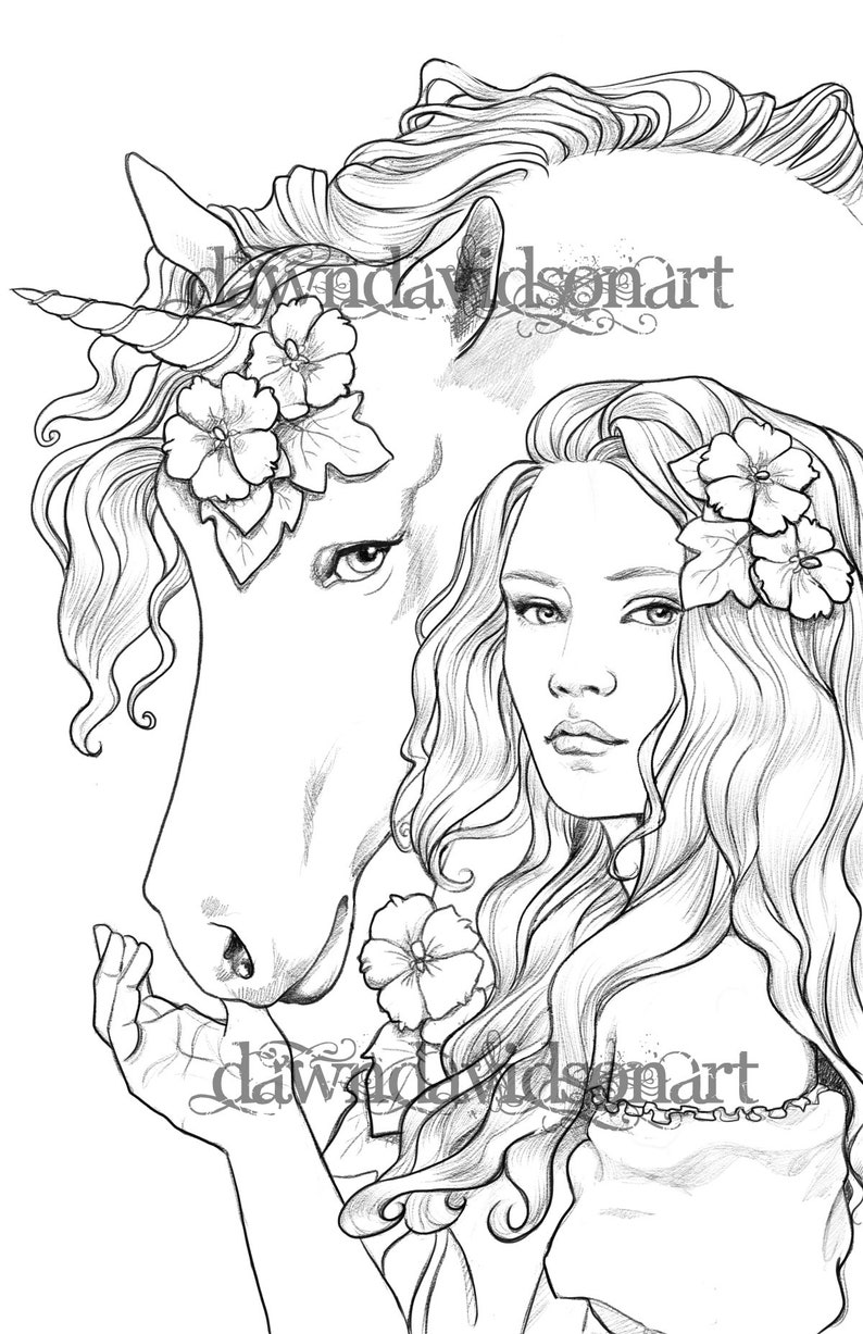 Coloring pages for adults Best Friends Unicorn Colouring ...