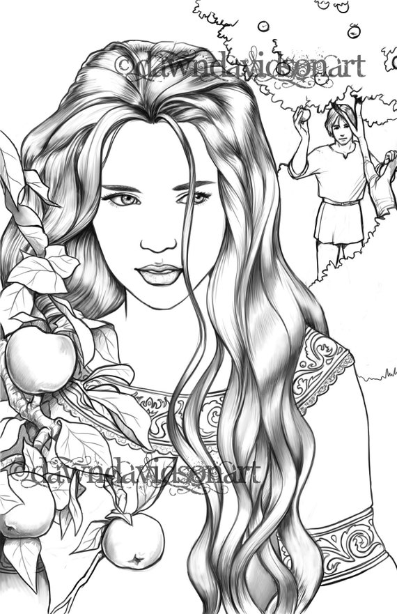 - Coloring Pages For Adults In The Orchard Romantic Etsy