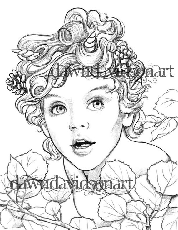 Coloring Pages For Adults Fantasy Fairy Colouring For Grown Etsy